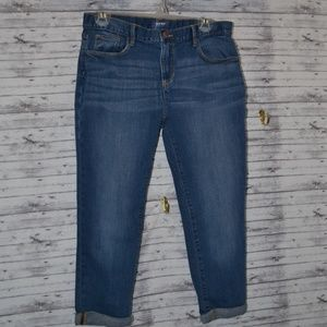 Sz 16 Plus Youth Old Navy Crop Skinny Jeans